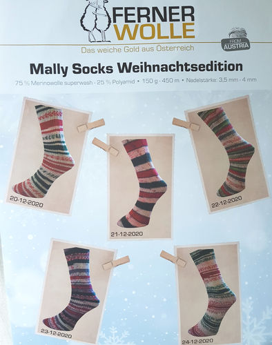 "Ferner Wolle ""Mally Socks"" Weihnachtsedition"
